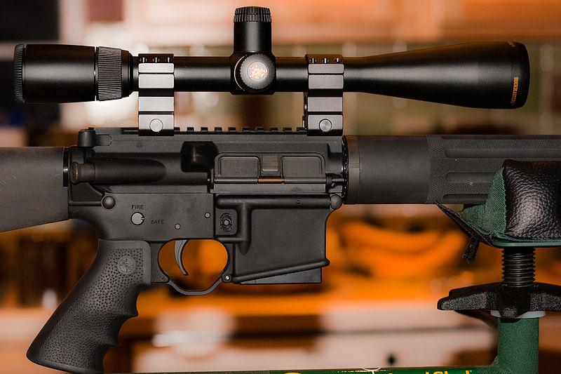 AR-15 With Mid-Range Nikon Scope