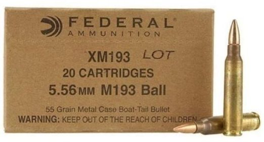 Federal 55gn 5.56mm M193 Ball