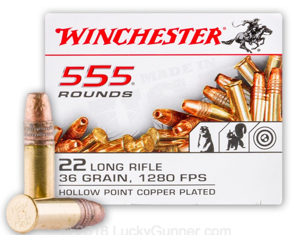 Winchester 36gn .22LR - 555 Rounds