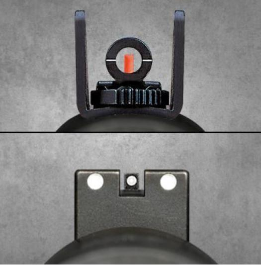 (Top) Ghost ring and (Bottom) NIght Sights