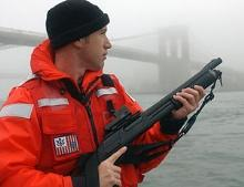 US Coast Guard holding M870
