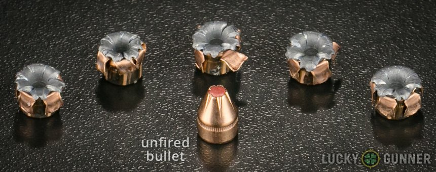Visual example of what good defensive ammo looks like, Hornady Critical Defense