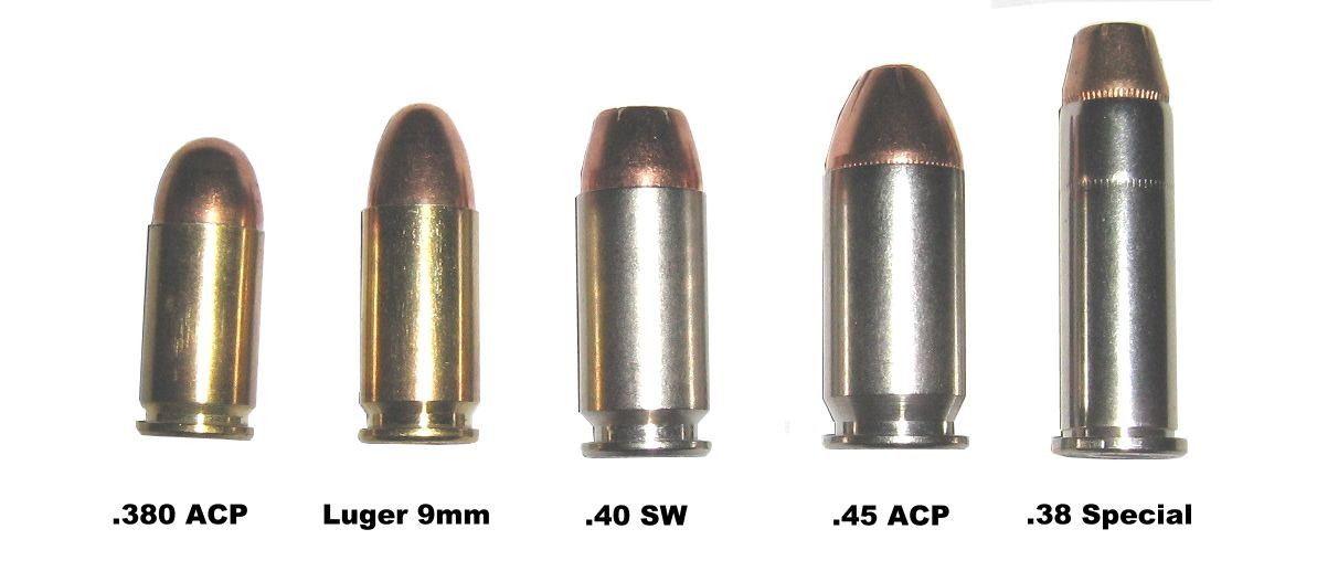 380 vs 9mm vs 40sw vs 45 acp vs 38 spl