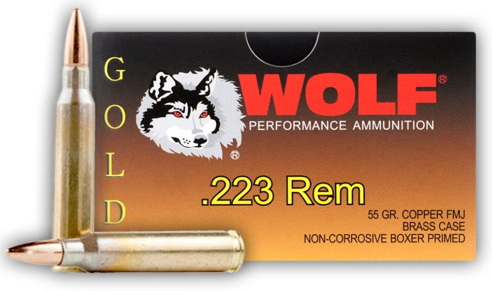 Wolf Gold 55gr .223 FMJ