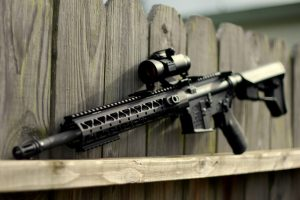 AR-15 with a free float handguard