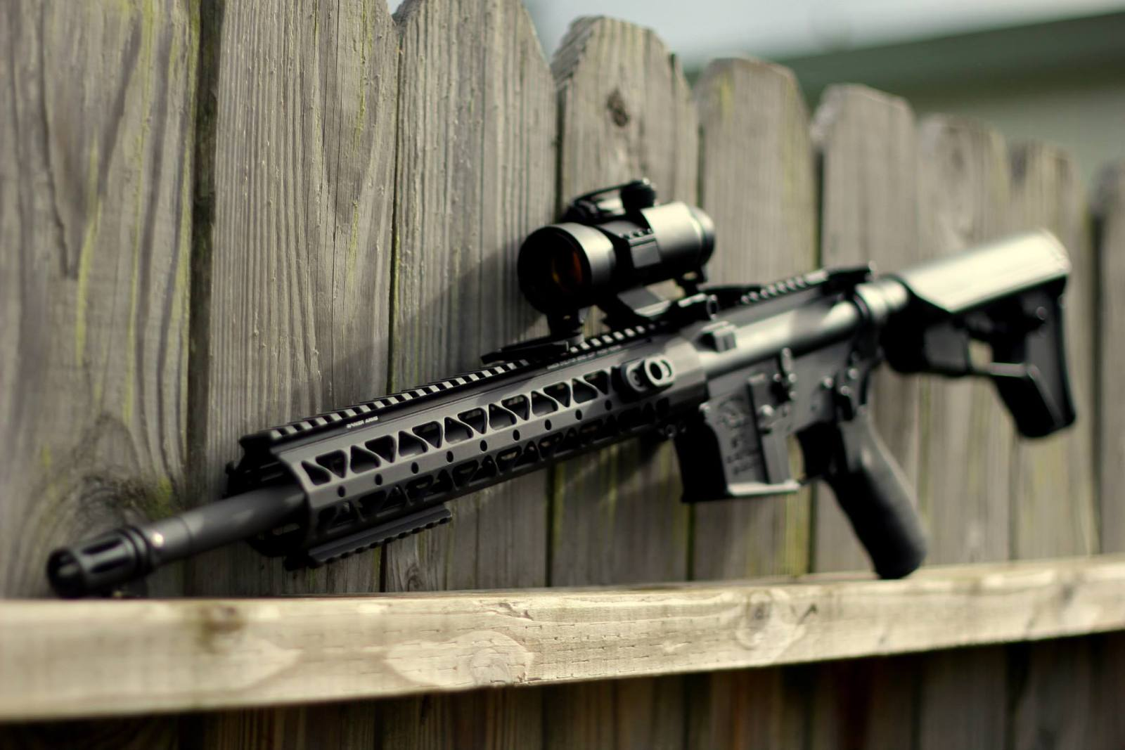 AR-15 with Optic