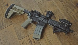 AR-15 with light