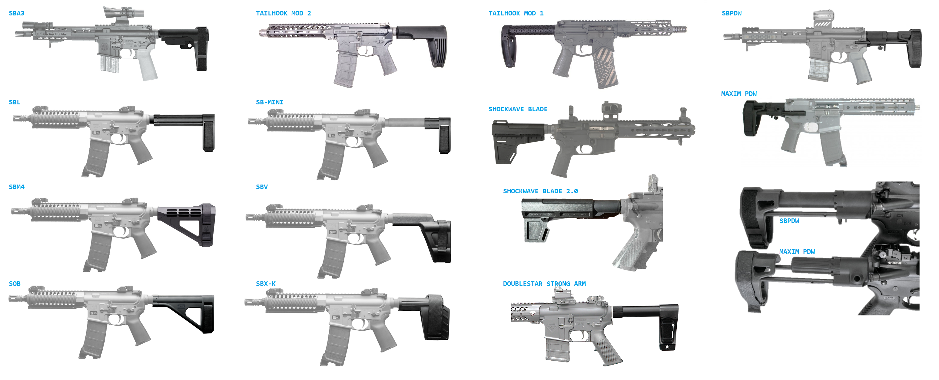 AR Pistol Brace Comparison