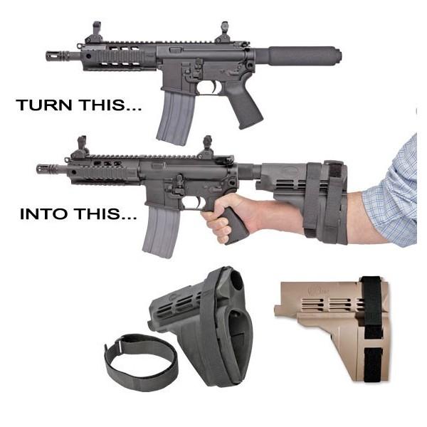 AR Pistol Brace Diagram