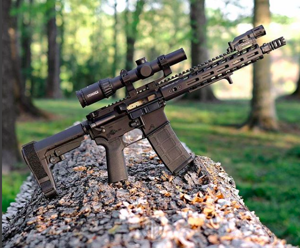 AR Pistol Brace Mounted