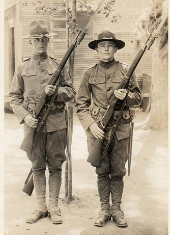 WWI U.S. Soldiers with M1917 Enfield Rifles