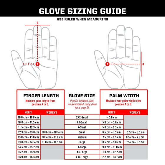 Mechanix glove sizing guide