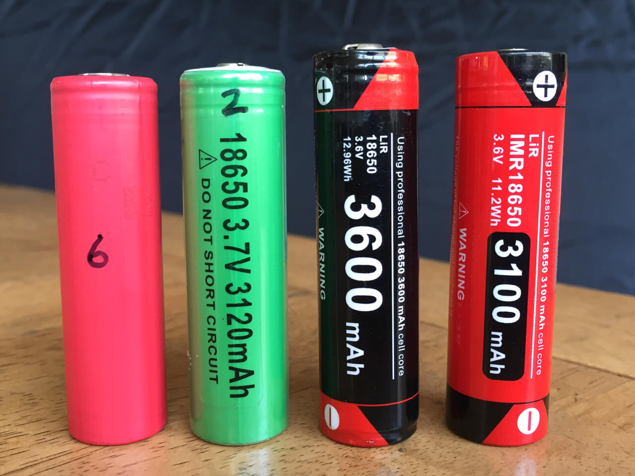 Unprotected vs Protected 18650 batteries