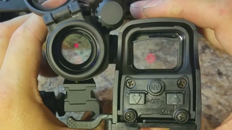 red dot vs holo field of view