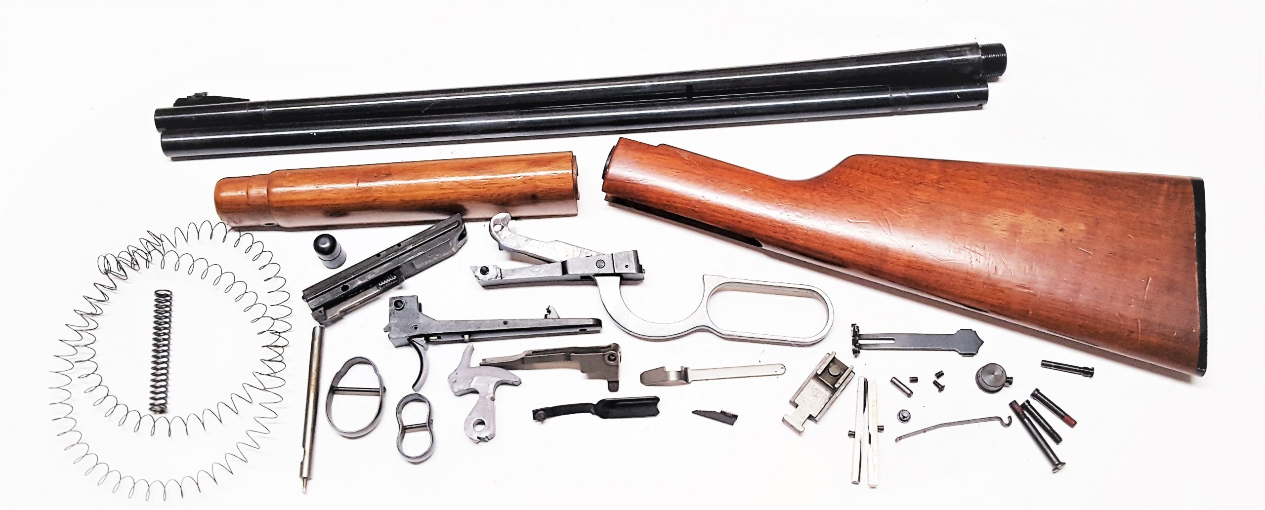 Completely disassembled Winchester Model 1894