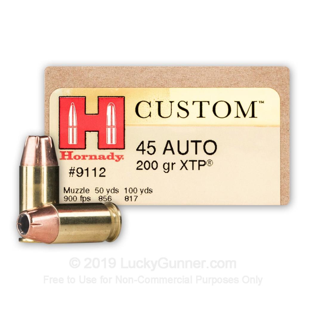 Hornady Custom .45 ACP 200 gr XTP