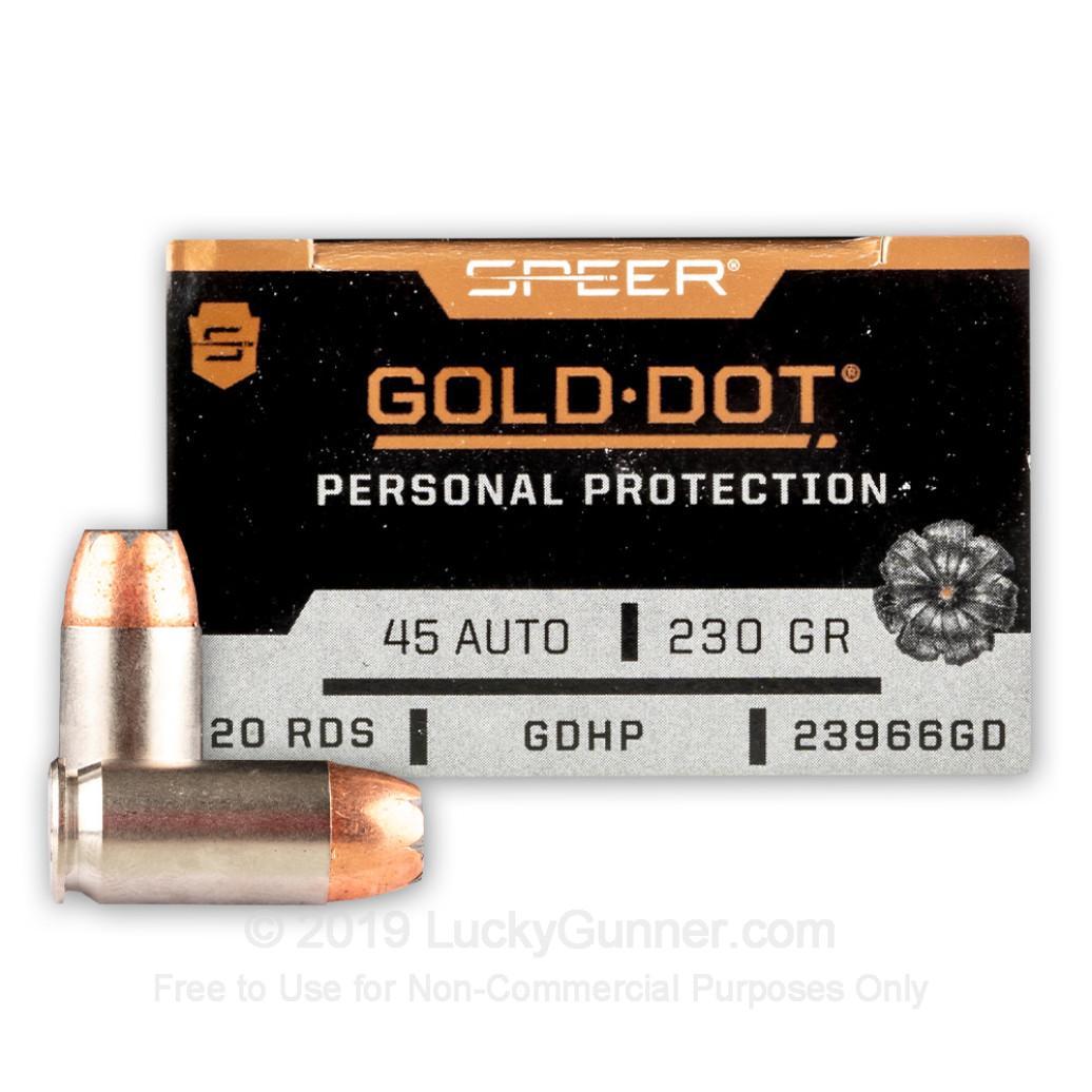 Speer Gold Dot 230 gr .45 ACP