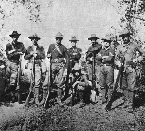 1st Nebraska on outpost detail, Dec. 25, 1898