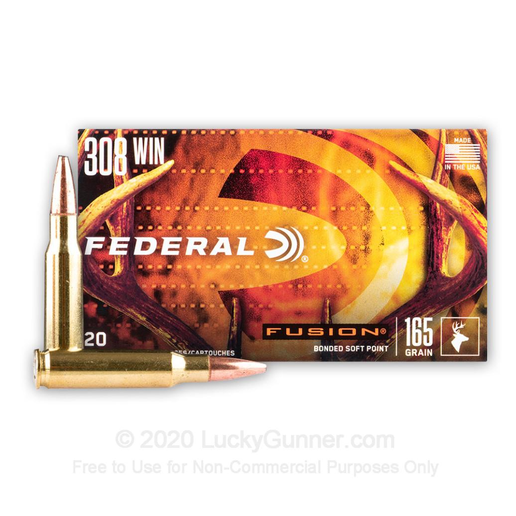 Federal Fusion, 165 gr .308