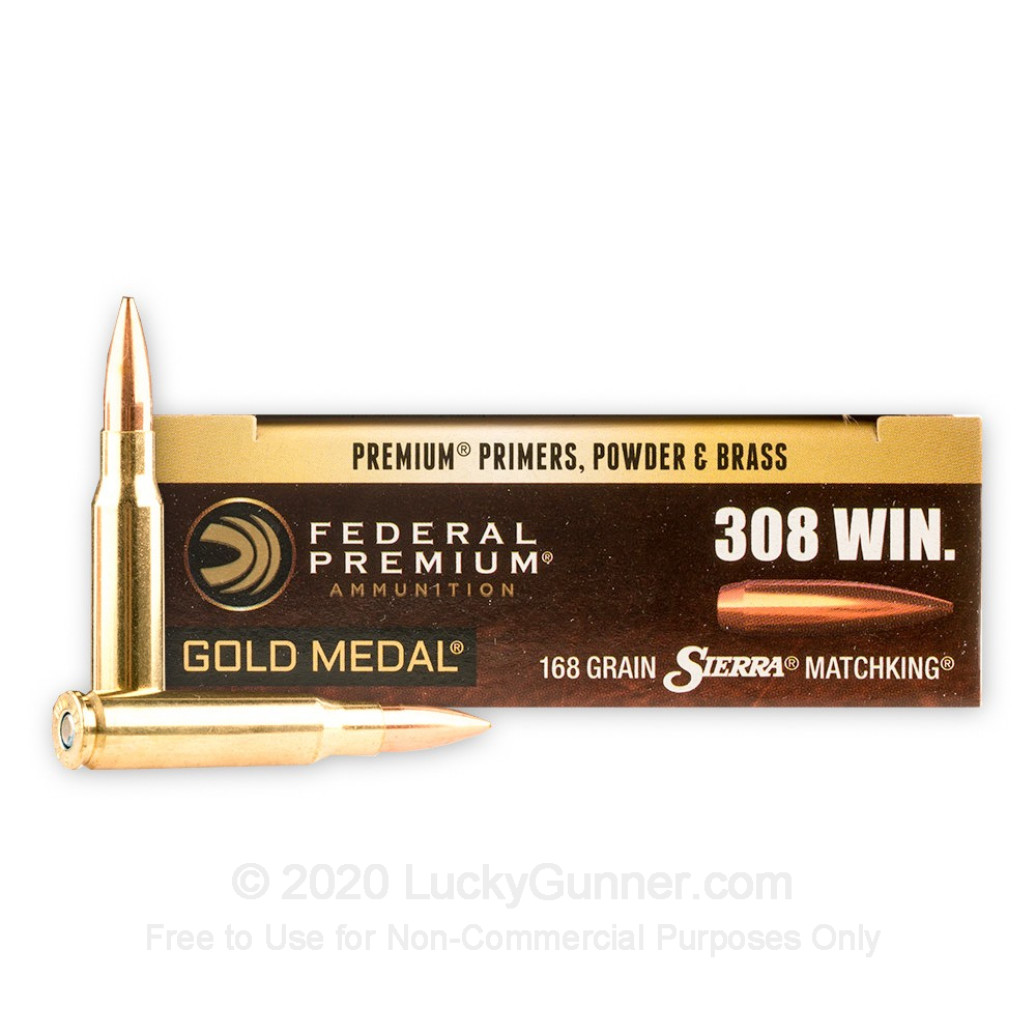 Federal Premium Sierra Matchking Gold Medal, 168gr .308