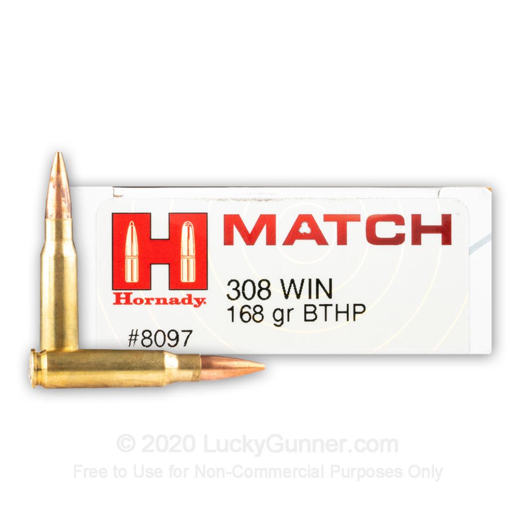 Hornady BTHP Match, 168 gr .308