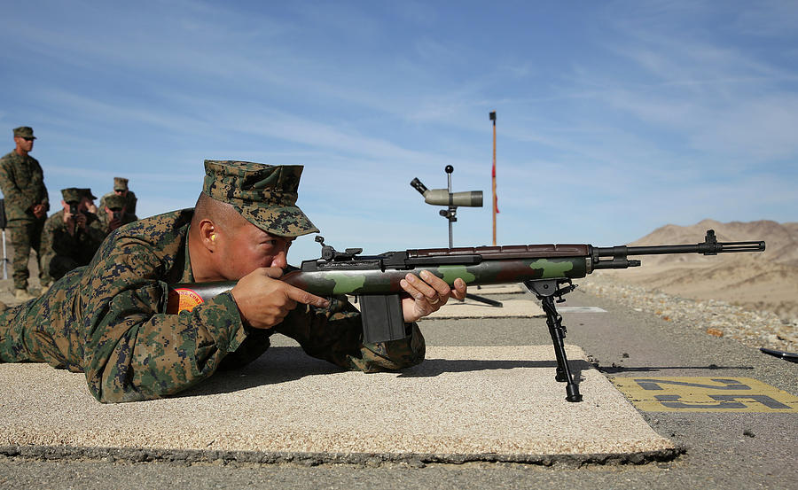 A Marine with an M14 Service Rifle