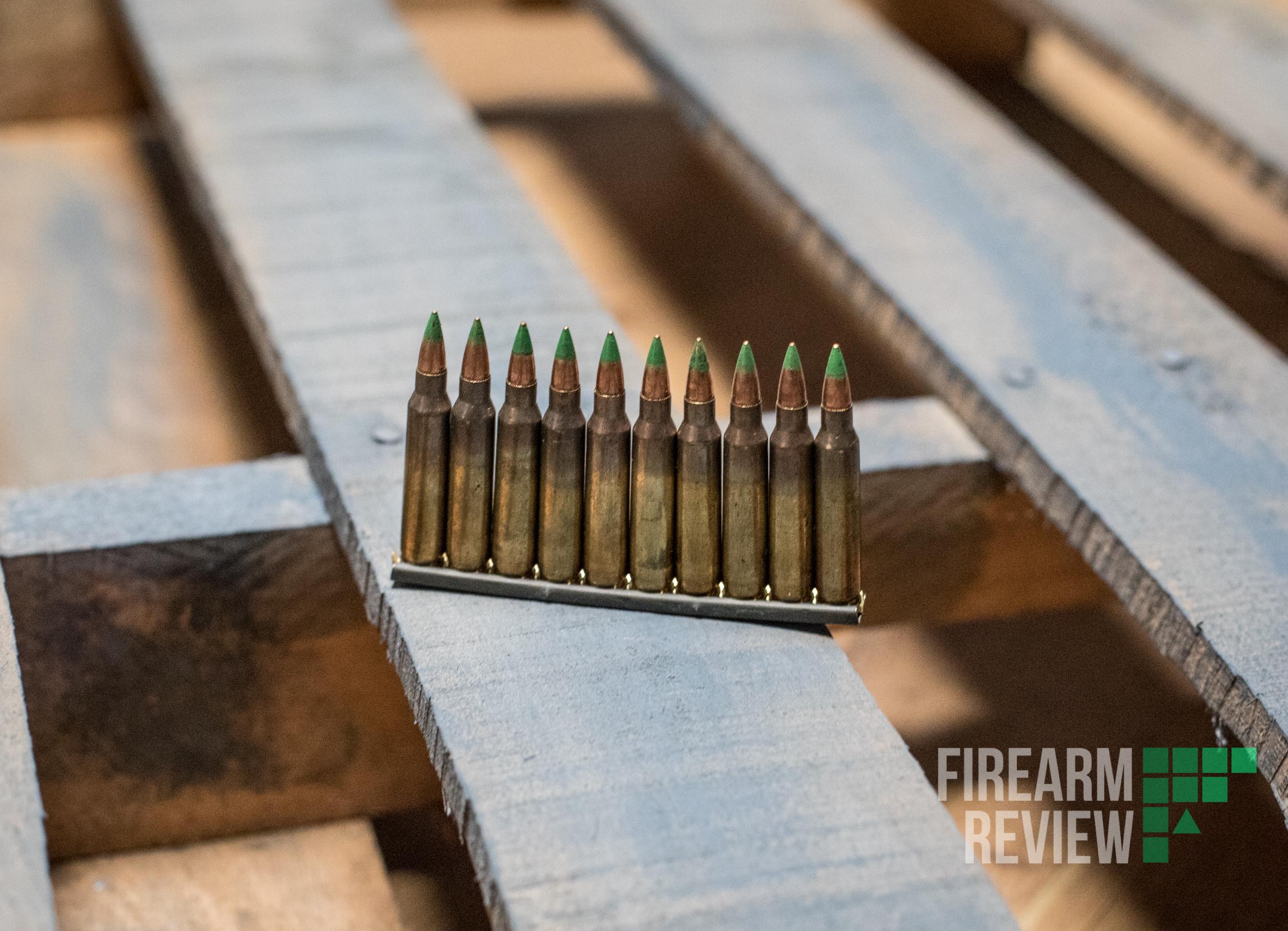 5.56 NATO Green Tip ammo