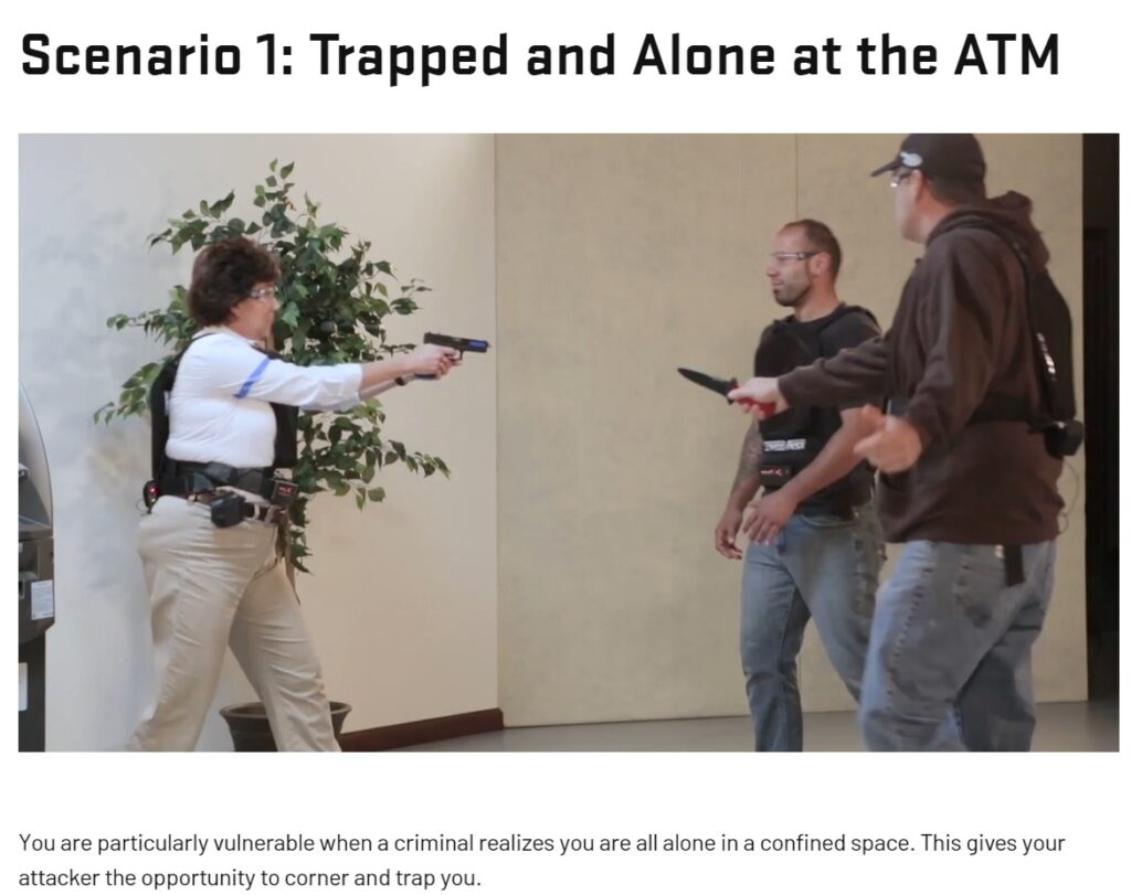 Trainees thrown into everyday scenarios.; Source: usconcealedcarry.com