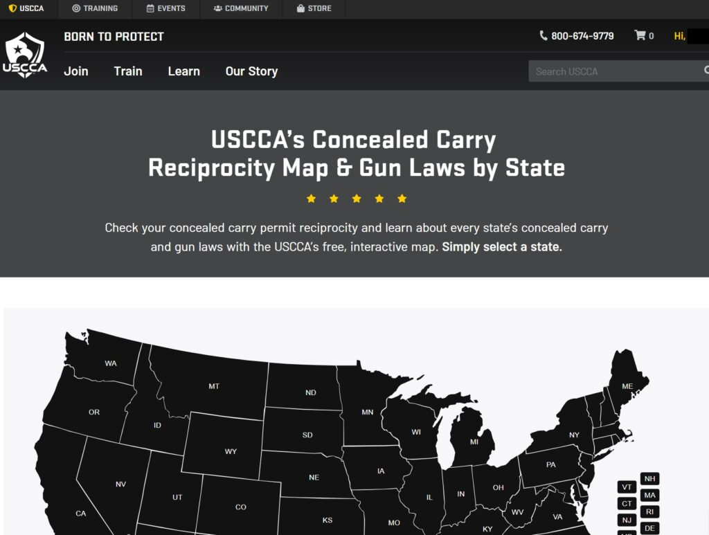 State gun laws and CCW guides.; source: usconcealedcarry.com